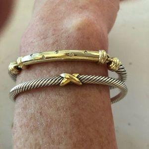 David Yurman set of bracelets